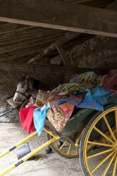 Wheelbarrow of fabric