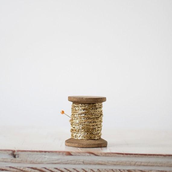 Gold glitter spool