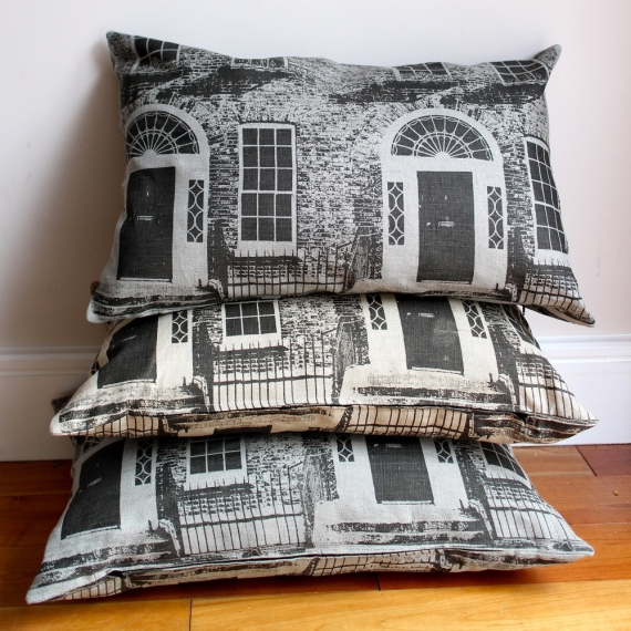 1. Hand printed Merrion Square cushions, ?45 each, Ursula Celano