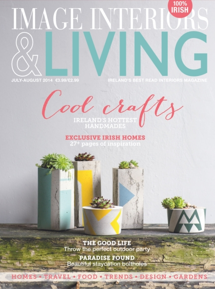 The cover of the July/August issue features gorgeous ceramic planters by new Irish duo Ail + El.