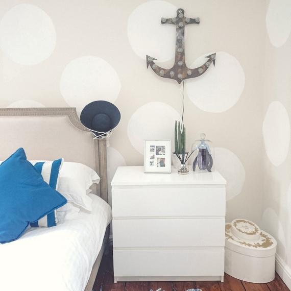Navy theme bedroom
