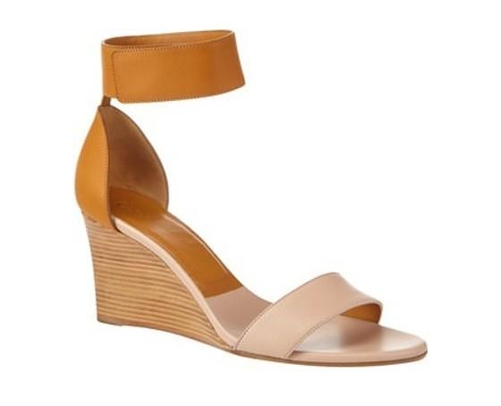 Two-tone wedge sandal, Chlo?, €470 at Brown Thomas