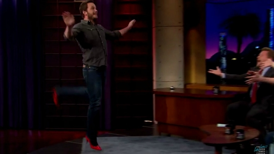 Watch: Chris Pratt Can Run In High Heels
