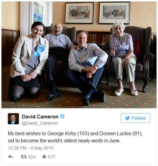 David Cameron Twitter Post