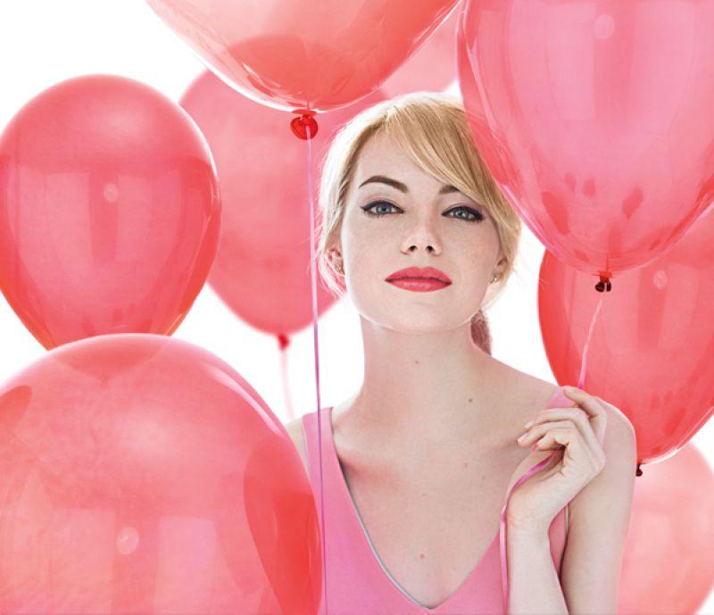 Emma Stone Pink Lipstick