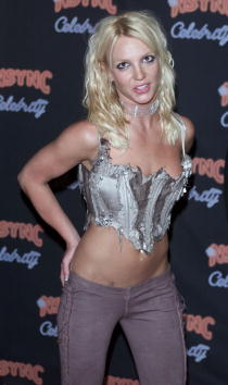 Britney Spears at *NSYNC's party to celebrate the release of their new CD'Celebrity' at Moomba in Los Angeles, Ca. 7/23/01. Photo by Kevin Winter/Getty Images.