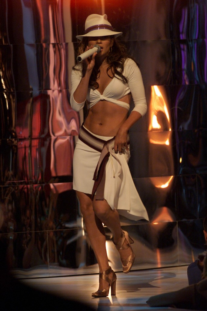 Jennifer Lopez onstage at the 2001 MTV Video Music Awards held at the Metropolitan Opera House at Lincoln Center in New York City on September 6, 2001. Photo by Scott Gries/ImageDirect