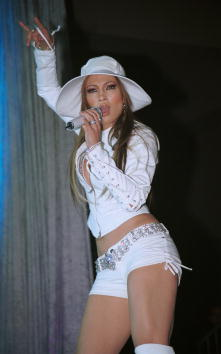 Jennifer Lopez Performs In Palm Springs