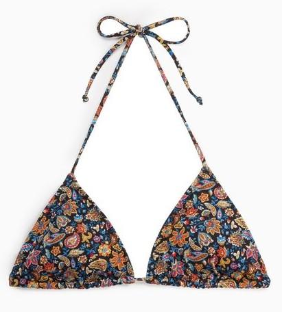 Floral triangle bikini top, €19.95 Mango