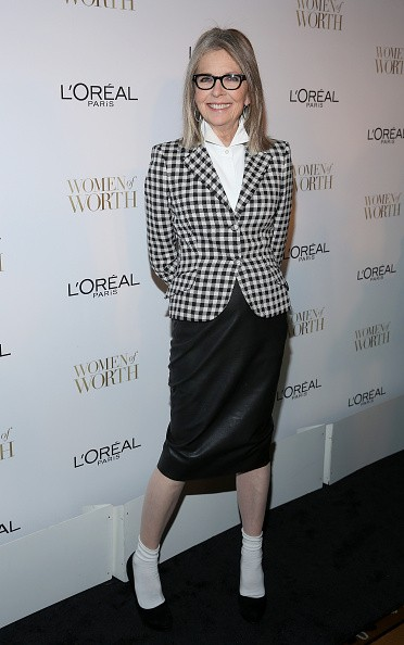 NEW YORK, NY - DECEMBER 02: Actress Diane Keaton attends L'Oreal Paris' Ninth Annual Women Of Worth Celebration at The Pierre Hotel on December 2, 2014 in New York City. (Photo by Rob Kim/Getty Images)