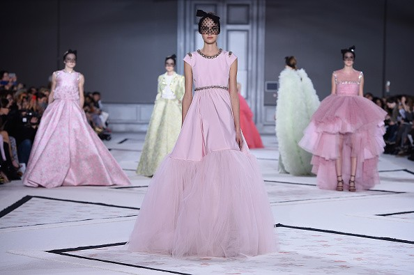 PARIS, FRANCE - JANUARY 26:  Models walk the runway during the Giambattista Vallishow as part of Paris Fashion Week Haute Couture Spring/Summer 2015 on January 26, 2015 in Paris, France.  (Photo by Pascal Le Segretain/Getty Images)