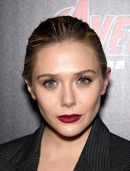 "Elizabeth Olsen attend The Cinema Society & Audi screening of Marvel's ""Avengers: Age of Ultron"" on April 28, 2015 in New York City."