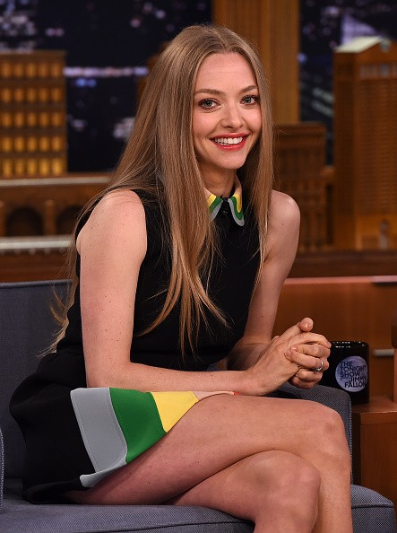 "NEW YORK, NY - JUNE 05: Amanda Seyfried Visits ""The Tonight Show Starring Jimmy Fallon"" at Rockefeller Center on June 5, 2015 in New York City. (Photo by Theo Wargo/NBC/Getty Images for ""The Tonight Show Starring Jimmy Fallon"")"