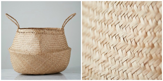 Helen James Considered seagrass basket, €20, Dunnes Stores.