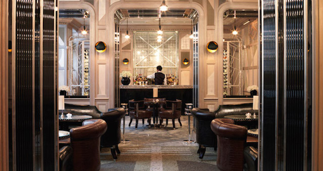 The Connaught Hotel's luxe bar, London.