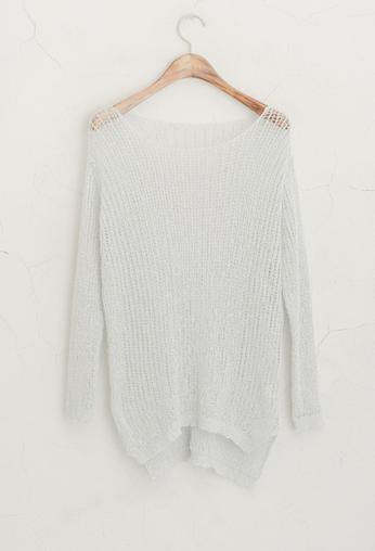light blue knit