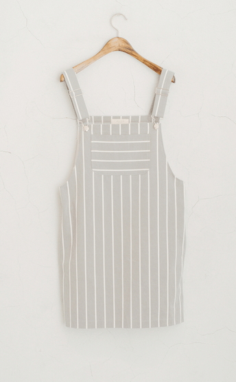 olive dungaree dress