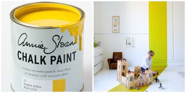 Annie Sloan chalk paint in English yellow - Living room updates on Image.ie