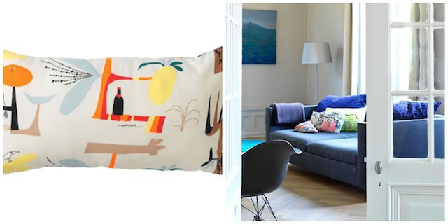 Colour pop cushion from Ikea - Living room updates on Image.ie