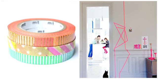 Multi colour washi tape - Living room updates on Image.ie