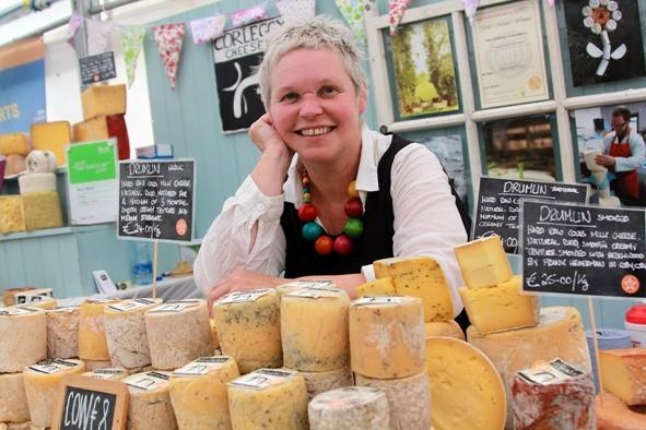 Silke Cropp of Corleggy Cheese displays her fantastic product at the Taste of Cavan food fair. Photo: Lorraine Teevan
