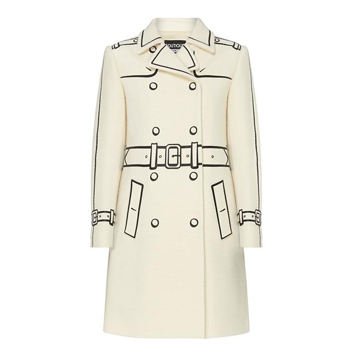 moschino print coat