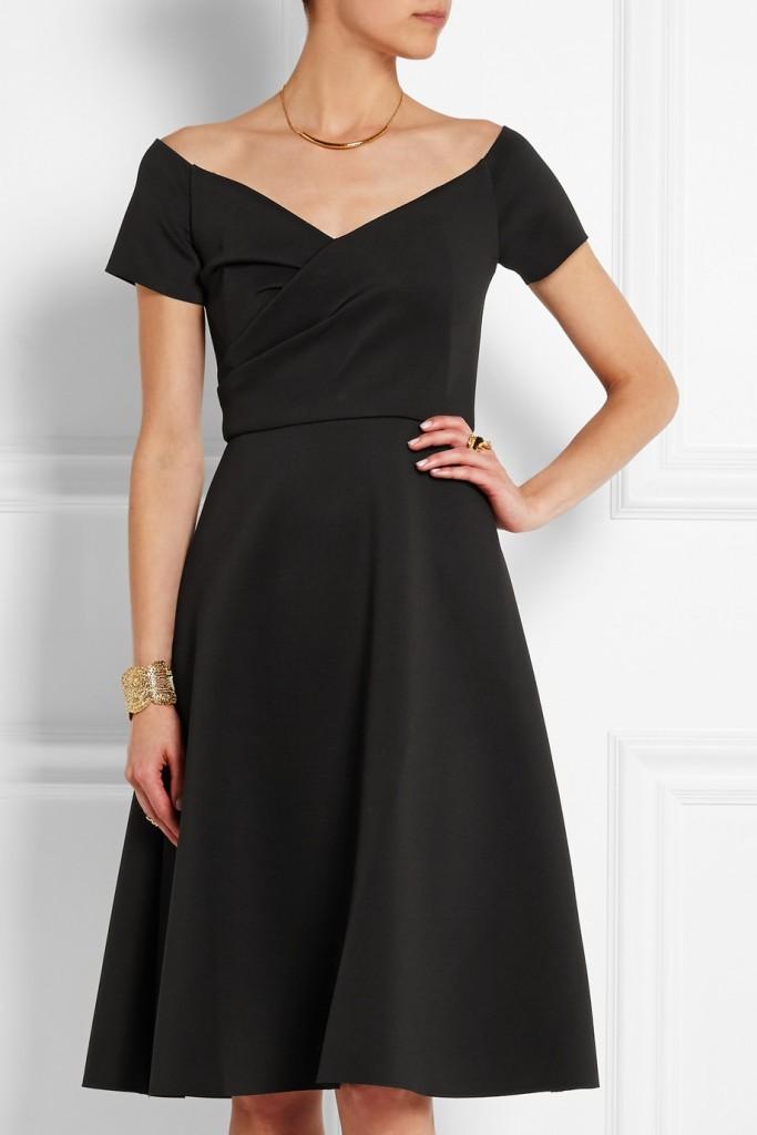 neoprene black dress from Saloni