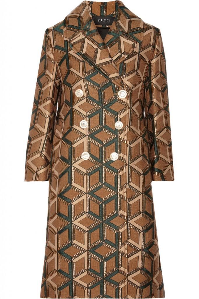 gucci print coat