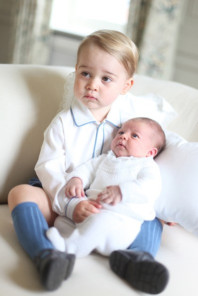 Prince George with his sister, Princess Charlotte.