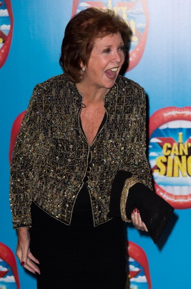 """Cilla Black attends the press night of """"I Can't Sing! The X Factor Musical"""" at London Palladium on March 26, 2014 in London, England."""