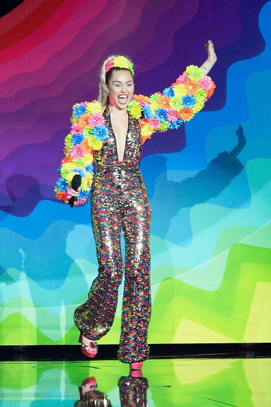 Miley Cyrus onstage during the 2015 MTV Video Music Awards at Microsoft Theater on August 30, 2015 in Los Angeles, California.