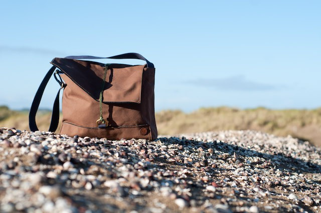 A canvas satchel by Ashleigh Smith of The Atlantic Equipment Project - image.ie/interiors