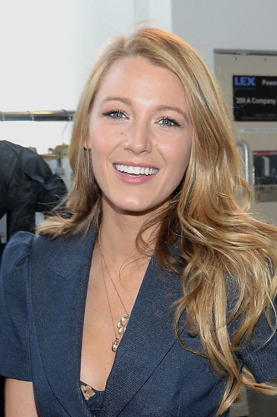 NEW YORK, NY - FEBRUARY 12: Actress Blake Lively poses backstage at the Michael Kors fashion show during Mercedes-Benz Fashion Week Fall 2014 at Spring Studios on February 12, 2014 in New York City. (Photo by Larry Busacca/Getty Images for Michael Kors)