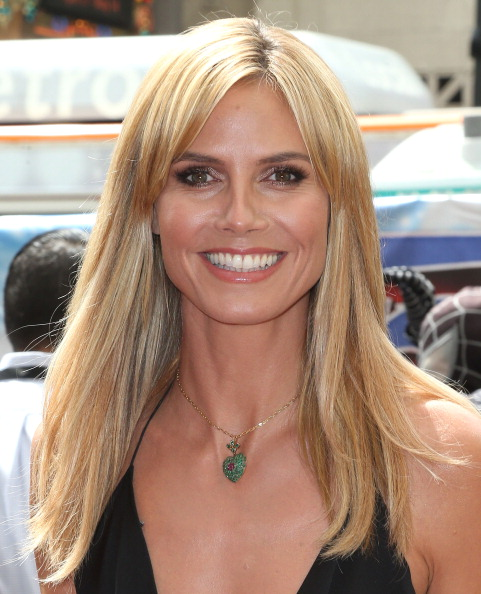 """HOLLYWOOD, CA - APRIL 22: Model Heidi Klum attends NBC's """"America's Got Talent"""" Red Carpet Event at the Dolby Theatre on April 22, 2014 in Hollywood, California. (Photo by Frederick M. Brown/Getty Images)"""