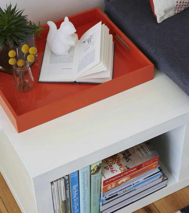 Reading nook furniture hack using Ikea lack tables