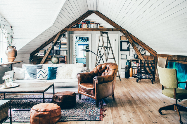 Image via Lovely Life blog. Interiors Pinspiration: Adorable Attic Living Rooms - Image Interiors & Living