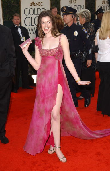 BEVERLY HILLS, CA - JANUARY 19: Actress Anne Hathaway attends the 60th Annual Golden Globe Awards at the Beverly Hilton Hotel on January 19, 2003 in Beverly Hills, California. (Photo by Jon Kopaloff/Getty Images)