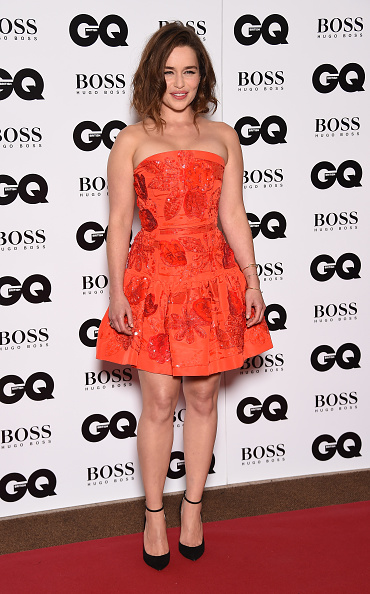 LONDON, ENGLAND - SEPTEMBER 08: Emilia Clarke attends the GQ Men Of The Year Awards at The Royal Opera House on September 8, 2015 in London, England. (Photo by Gareth Cattermole/Getty Images)