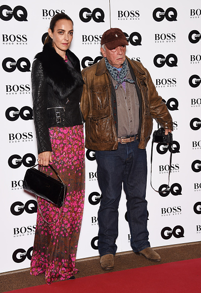 LONDON, ENGLAND - SEPTEMBER 08: David Bailey and Catherine Bailey attend the GQ Men Of The Year Awards at The Royal Opera House on September 8, 2015 in London, England. (Photo by Gareth Cattermole/Getty Images)