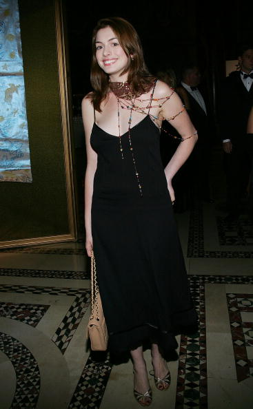 NEW YORK - OCTOBER 13: Actress Anne Hathaway attends the 9th Annual National Awards Dinner hosted by the Americans For The Arts at Cipriani's 42nd Street October 13, 2004 in New York City. (Photo by Evan Agostini/Getty Images)
