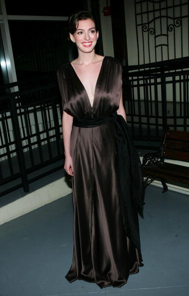 """NEW YORK - MARCH 7: Actress Anne Hathaway attends the 2005 """"Mr. Abbott"""" Awards at the Lighthouse at Chelsea Piers on March 7, 2005 in New York City. The """"Mr. Abbott Awards"""" honors directors and choreographers whose distinguished body of work has made a lasting and outstanding contribution to American theater. (Photo by Evan Agostini/Getty Images)"""