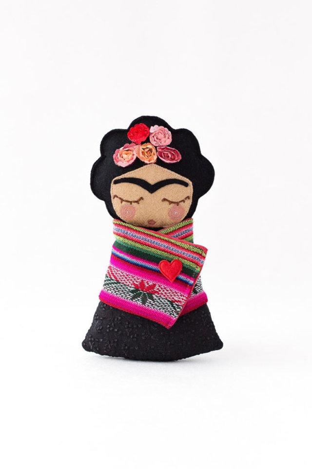 Frida Kahlo doll by Guadalupe Creation, €49, Etsy.