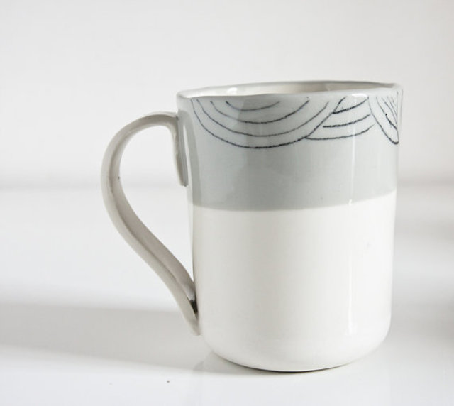 Porcelain cup by Karo Art, €17, Etsy.