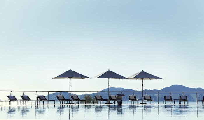 The pool at sunset, Radisson Blu Sun Gardens, Dubrovnik
