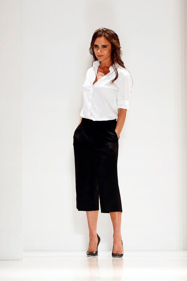 Victoria Beckham after her S/S Collection was showcased at NYFW