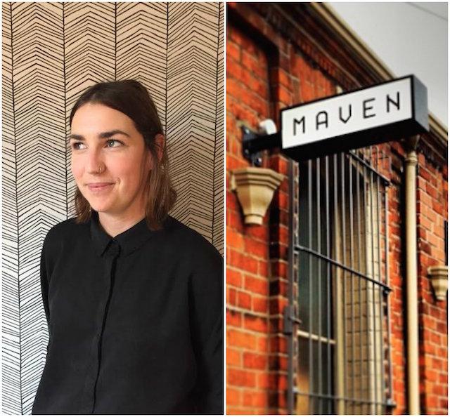 Caitlin McGinniss (photograph by Patricia McGinnis); Maven, Belfast (image via Walnut Grey Design)