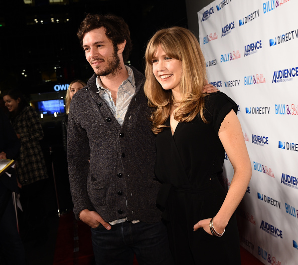 """WEST HOLLYWOOD, CA - FEBRUARY 25:  Actor Adam Brody (L) and actress Lisa Joyce attend the premiere of DirecTv's """"Billy & Billie""""  at The Lot on February 25, 2015 in West Hollywood, California.  (Photo by Michael Buckner/Getty Images)"""
