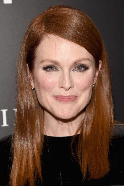 """julianne moore attends the """"Freeheld"""" New York premiere at the Museum of Modern Art on September 28, 2015 in New York City."""
