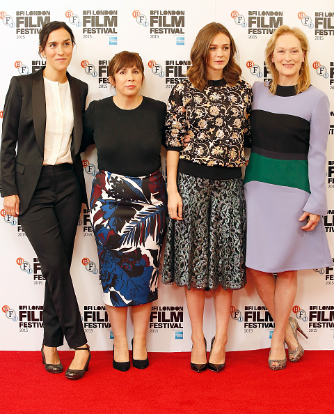 """Abi morgan attends the """"Suffragette"""" photocall during the BFI London Film Festival at The Lanesborough Hotel on October 7, 2015 in London, England."""