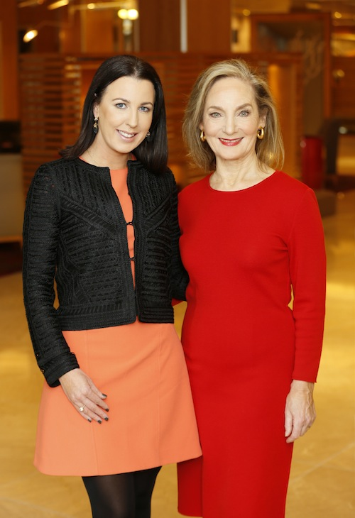 no repro fee if IMAGE Businesswoman of the Year Awards mentioned in caption Pictured: Managing Director of Image Publications, Clodagh Edwards with Mary Finan, the former Chair of the RTE Authority and one of the founding partners of Wilson Hartnell Public Relations, this year's recipient of the Lifetime Achievement Award at the 2015 IMAGE Businesswoman of the Year Awards. The ceremony will take place on Monday, November 2, 2015 at the DoubleTree by Hilton Hotel (Burlington Road, Dublin 4). -photo Kieran Harnett